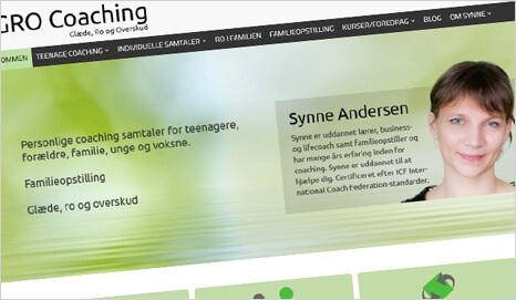 Webbureau Holbæk, reference fra Gro Coaching